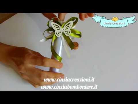Partecipazioni Farfalla Provetta Vetro Bottiglia inviti nozze con farfalle