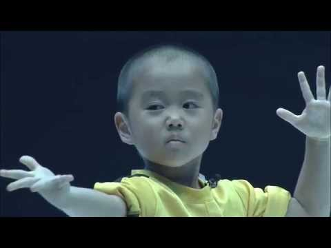 Ryusei(5year old)performed Bruce Lee's style Nunchaku  on martial arts event