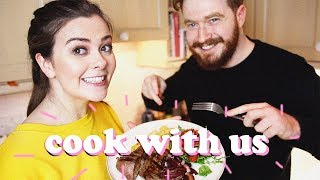 COOK WITH US - MAKING DINNER WITH ADAM + RELATIONSHIP Q&A | LUCY WOOD