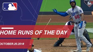 Watch all the home runs for October 20, 2018