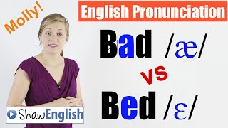English Pronunciation: Bad /æ/ vs Bed /ɛ/