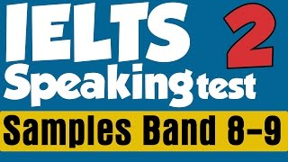 ►IELTS Speaking Test Samples with Subtitles Band  8-9: Part II (Topic: Education, Towns, City Life)