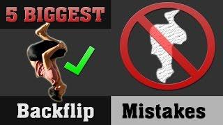 5 Biggest Backflip Mistakes | Perfect Your Backflip!