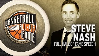 Steve Nash | Hall of Fame Enshrinement Speech
