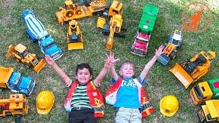 Bruder Toy Trucks for Children - Backhoe Excavators, Dump Trucks, Garbage Trucks & Fire Engine