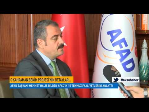 AFAD Başkanı Mehmet Halis Bilden 'O Kahraman Benim' Projesini Anlattı
