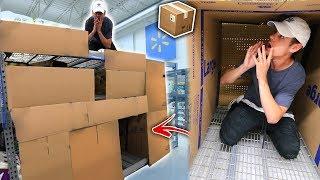 GIANT HIDDEN BOX FORT IN WALMART PRANK! 📦 *3 FLOORS* | David Vlas