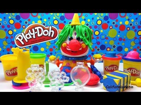 Play Doh Clown Playset Playdough Funny Clown Play Doh Plasticine