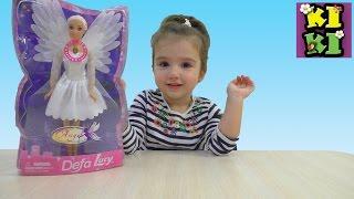 Кукла Ангел Дефа Люси с светящимися крыльями распаковываем Angel Doll Defa Lucy glowing wings unpack