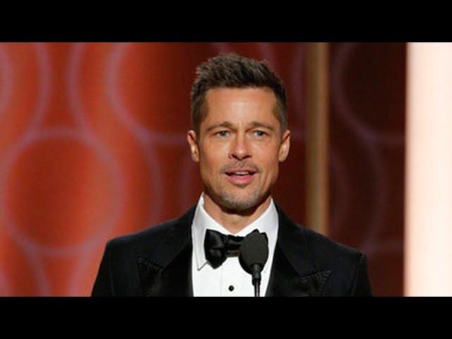 Brad Pitt Makes SURPRISE Appearance During 2017 Golden Globes