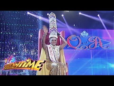 It's Showtime Miss Q & A: Juliana Parizcova Segovia   1st Miss Q & A Hall Of Famer