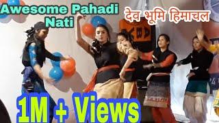 Dunge Naluye-Girls dance Awesome Pahari Nati on Deep khadrai Nonstop 3IShimla Culture |Sirmouri|2018
