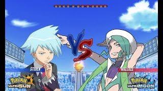 Pokemon Battle USUM: Steven Vs Wallace (Pokémon Hoenn Face Off!)