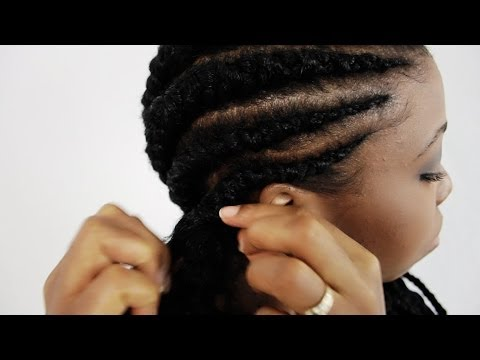 Ghana Braids Step By Step Tutorial Part 2 How To Do Cherokee Banana Pineapple Invisible Cornrows