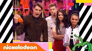 Jace Norman Wins Favorite TV Actor 📺 Second Year in a Row | Kids' Choice Awards 2018 | Nick