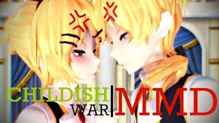 MMD【Childish War】HD 1080p →TR Altyazılı (Rin&Len)