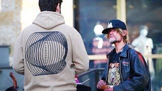 Asking homeless people for money *You won't believe what happens*