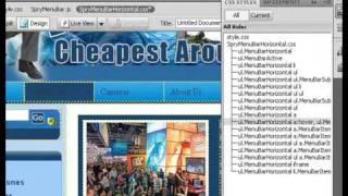 How To Create Drop Down Menus In Dreamweaver CS4 Lesson 3.wmv