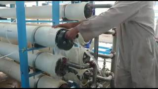 Removing of membrane from rewerse osmosis water plant