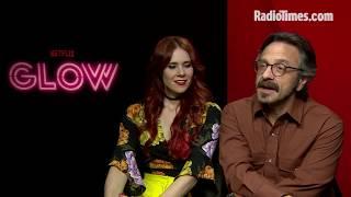 GLOW stars Kate Nash and Marc Maron