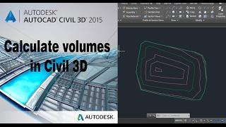 Autocad civil 3D surface volume