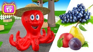 Learn Learn colors learn fruit with Octopus and toys Videos for children