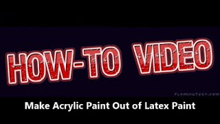 How-To: Make Acrylic Paint for Art with Latex House Paint #ColorOfTheYearArt