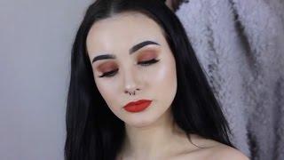 Orange Smoke & Bright Lip   Bold Spring Makeup Tutorial