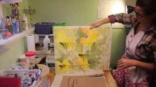 Mixed Media Background for a Fine Art Painting Part 2