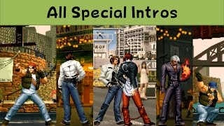 The King Of Fighters - All Special Intros ('96 - 2003)