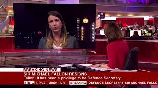 Breaking News  Sir Michael Fallon resigns over past behaviour claims  BBC News