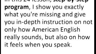 learn english speaking - American accent course.