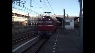 EF81-134+DE10-1571大宮発車