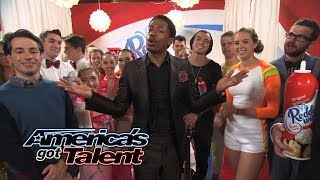 Reddi-Wip After Party: JD Eats It, Miguel Rocks Out, Selfies With Nick - America's Got Talent 2014