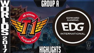 SKT vs EDG Highlights | 2017 World Championship Day 8 Group A Worlds SK Telecom T1 vs Edward Gami