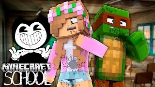 BENDY ATTACKS MINECRAFT SCHOOL! Minecraft Little Kelly w/TinyTurtle (Custom Roleplay)