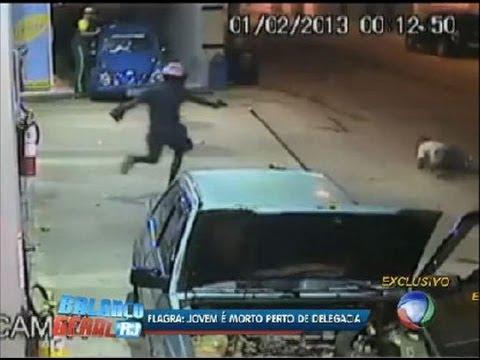 Flagrante homem é assassinado em posto de gasolina em Itaperuna RJ