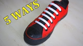 [How to make] - 5 Creative Ways to fasten Shoelaces | MrGear