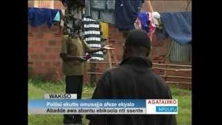 Poliisi ekutte omusajja afeze ekyalo