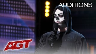 Death Delivers Side-Splitting Humor On AGT, Receives BUZZERS! - America's Got Talent 2019