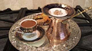 طريقة عمل القهوه التركيه How to make Turkish coffee