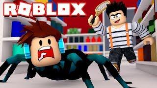 Roblox - VIREI UMA ARANHA !! ( Roblox Pet Shop Escape )