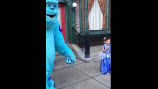 Hello Sulley, where's Mike?