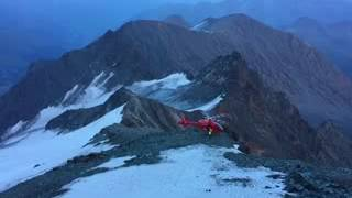 Helicopter crash  to the top of Grossglockner mountain in Austria