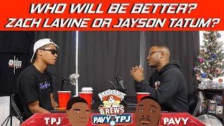 Will Zach Lavine or Jayson Tatum be better long term | Hoops N Brews