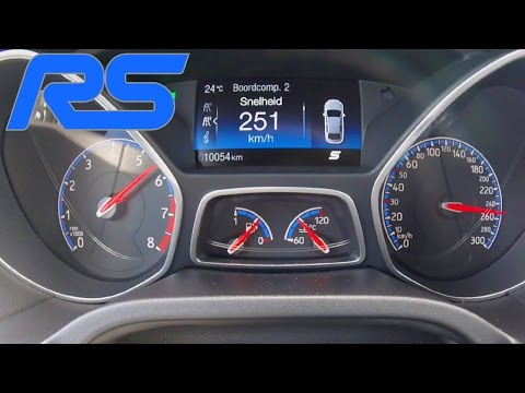 Ford Focus RS MK3 Acceleration Launch Control 0 251 km h Autobahn Speed Test