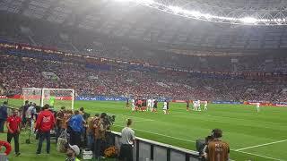 Stadium goal. Croatia-England (Kieran Trippier) World Cup semi-final 2018