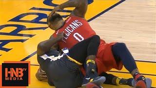 DeMarcus Cousins & Draymond Green Hard Fall / GS Warriors vs Pelicans