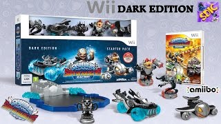 UNBOXING Skylanders SuperChargers Wii DARK EDITION with Dark Bowser Kaos Trophy Dark Clown Cruiser
