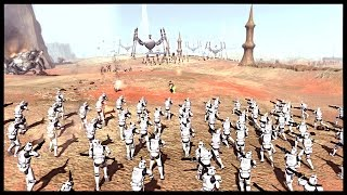 Huge Clone Assault - Battle of Geonosis | Men of War Assault Squad 2 Star Wars Mod Gameplay